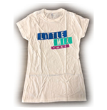 Little Mix Ladies Tee: Logo Blue/Purple (Ex Tour)