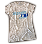 Little Mix Ladies Tee: Blue Logo (Ex Tour)