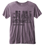 Jimi Hendrix Men's Fashion Tee: Stencil Logo Vintage with Burn Out Finishing