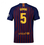 2018-2019 Barcelona Home Nike Football Shirt (Sergio 5)
