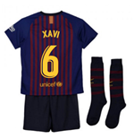 2018-2019 Barcelona Home Nike Little Boys Mini Kit (Xavi 6)