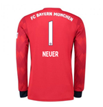 2018-2019 Bayern Munich Adidas Home Long Sleeve Shirt (Neuer 1)