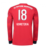 2018-2019 Bayern Munich Adidas Home Long Sleeve Shirt (Goretzka 18)