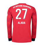 2018-2019 Bayern Munich Adidas Home Long Sleeve Shirt (Alaba 27)