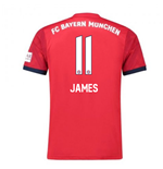 2018-2019 Bayern Munich Adidas Home Football Shirt (James 11)