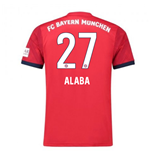 2018-2019 Bayern Munich Adidas Home Football Shirt (Alaba 27)