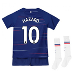 2018-2019 Chelsea Home Nike Little Boys Mini Kit (Hazard 10)