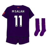 2018-2019 Liverpool Away Little Boys Mini Kit (M Salah 11)
