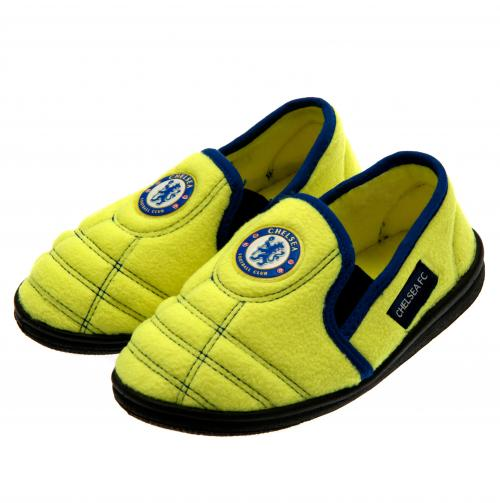 Chelsea F.C. Neon Junior Slippers 12/13