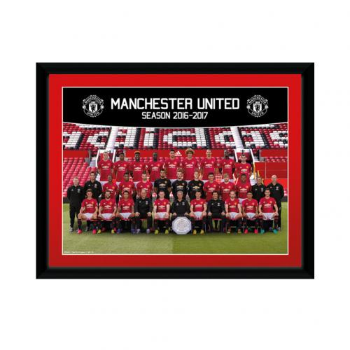 Manchester United F.C. Picture Squad 8 x 6 16/17