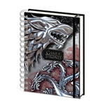 Game of Thrones Wiro Notebook A5 Stark & Targaryen