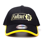 FALLOUT 76 Embroidered Logo Adjustable Cap, Unisex, One Size, 53 to 60cm, Black/Yellow