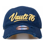 FALLOUT 76 Embroidered 3D Vintage Vault 76 Logo Adjustable Cap, Unisex, One Size, 53 to 60cm, Blue