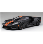 FORD GT MATTE BLACK WITH COMPETITION ORANGE STRIPE TOP SPEED