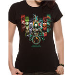 Aquaman Movie - Unite The Kingdoms - Women Fitted T-shirt Black