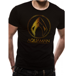 Aquaman Movie - Metallic Symbol - Unisex T-shirt Black