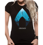 Aquaman Movie - Logo And Symbol - Women Fitted T-shirt Black