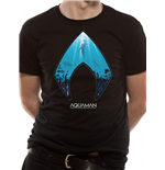Aquaman Movie - Logo And Symbol - Unisex T-shirt Black