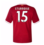 2017-18 Liverpool Home Short Sleeve (Kids) (Sturridge 15)