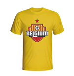 Belgium Country Logo T-shirt (yellow) - Kids