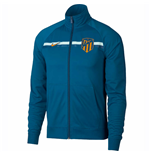 2018-2019 Atletico Madrid Nike Core Trainer Jacket (Green Abyss)