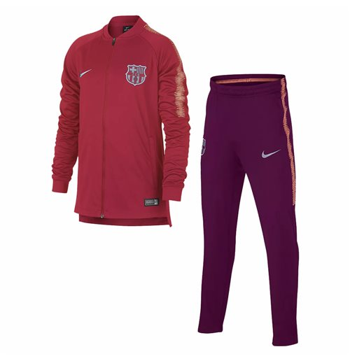 2018-2019 Barcelona Nike Squad Knit Tracksuit (Tropical Pink)