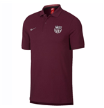 2018-2019 Barcelona Nike Core Polo Shirt (Deep Maroon)