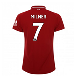 2018-2019 Liverpool Home Ladies Football Shirt (Milner 7)