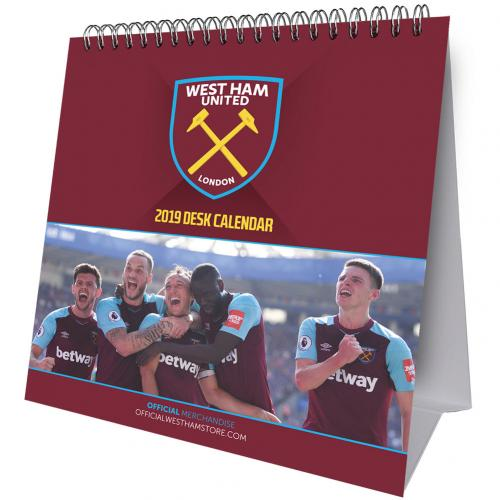 West Ham United F.C. Desktop Calendar 2019