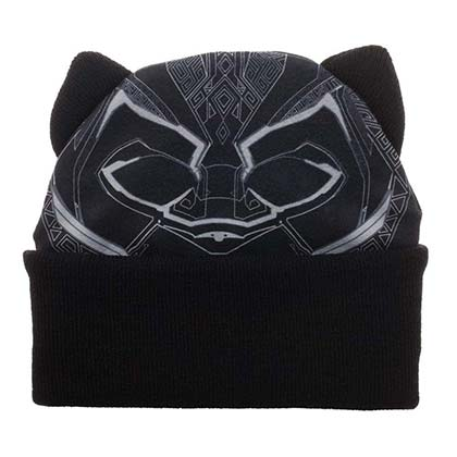 BLACK PANTHER Black Face Beanie