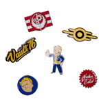 FALLOUT 76 Set of 6 Metal Pin Badges Collector's Set, Unisex, One Size, Multi-colour