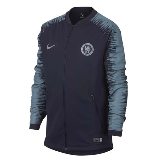 2018-2019 Chelsea Nike Anthem Jacket (Obsidian) - Kids