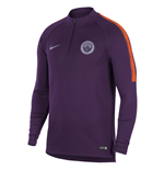 2018-2019 Man City Nike Training Drill Top (Night Purple)