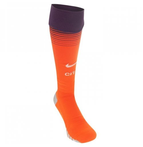 2018-2019 Man City Nike Third Socks (Orange)