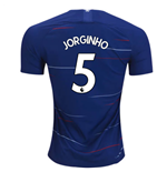 2018-2019 Chelsea Home Nike Football Shirt (Jorginho 5) - Kids