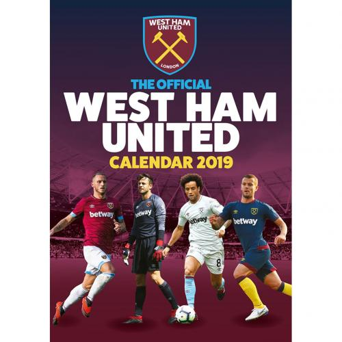 West Ham United F.C. Calendar 2019