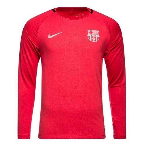 wholesale dealer 17b8e 5d683 2018-2019 Barcelona Nike Long Sleeve Training Shirt (Tropical Pink)