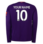2018-2019 Liverpool Away Long Sleeve Shirt (Your Name)