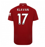 2018-2019 Liverpool Home Football Shirt (Klavan 17) - Kids