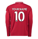 2018-2019 Liverpool Home Long Sleeve Shirt (Your Name) -Kids