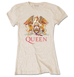 Queen Ladies Tee: Classic Crest