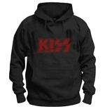 KISS Unisex Pullover Hoodie: Slashed Logo