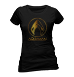 Aquaman Movie Ladies T-Shirt Metallic Symbol