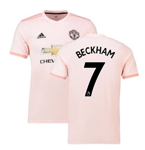 Buy Official 2018 2019 Man Utd Adidas Away Football Shirt Beckham 7