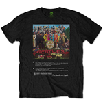 The Beatles: Sgt Pepper 8 Track T-shirt (Unisex)