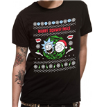 Rick And Morty - Merry Schwiftmas - Unisex T-shirt Black