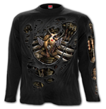 Steam Punk Ripped - Longsleeve T-Shirt Black
