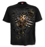 Steam Punk Ripped - T-Shirt Black