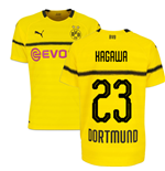 2018-19 Borussia Dortmund Home UCL Football Shirt (Kagawa 23) - Kids