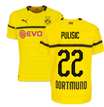 2018-19 Borussia Dortmund Home UCL Football Shirt (Pulisic 22) - Kids